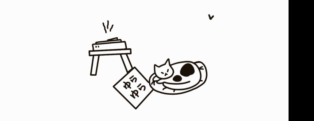 gato escuchando música